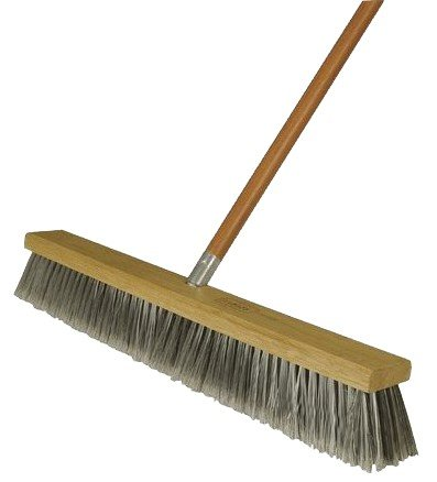 4 Pack Harper Brush 582224SC 24'' Fine Debris Economy Pushbroom w/60'' Handle - Fine by Harper Brush