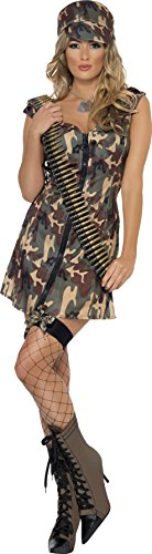 Army Girl Costume - Large - Dress Size 14-16 (Sexy Holloween Costumes)