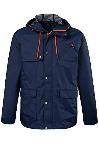 JP 1880 Herren große Größen bis 5 XL | Funktions-Jacke in orange & blau | Outdoorjacke winddicht, wasserabweisend & atmungsaktiv | Reißverschluss, Kapuze & 3 Taschen | navy XL 702305 70-XL