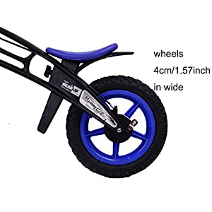 Training Balance Bike Kids Sport Bicycle No Pedal Toddler Walking Buddy Excellent Present for Ages 2-5 years (Blue)