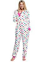 Body Candy Womens Adult Onesie Adorable Microfleece Hooded One Piece Pajama