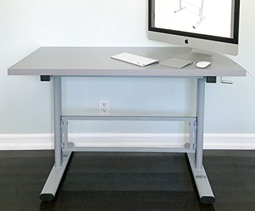 manual height adjustable standing desk base frame stand up sit down table new ebay. Black Bedroom Furniture Sets. Home Design Ideas