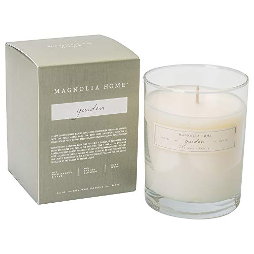 Garden Scented 9.2 ounce Soy Wax Boxed Glass Candle by Joanna Gaines - Illume (Candle Cottage Garden)