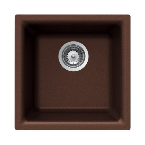 (Houzer EURO N-100 COPPER Euro Series Undermount Granite Single Bowl Bar/Prep Sink, Copper)