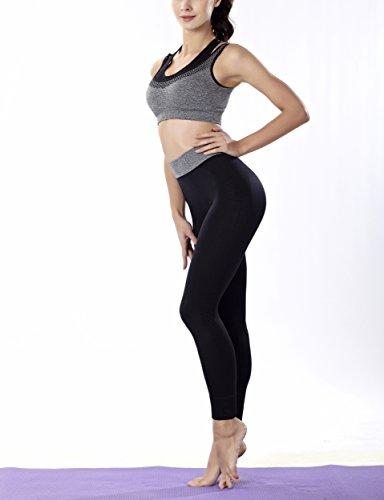 COCO TOE® Sujetador Deportivo Con Aros Sin Relleno Para Mujer Gray