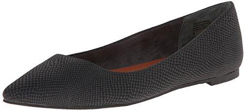 BC Footwear Womens Rebel Ballet Flat, Black Exotic, 8 M US