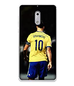 ColorKing Football Ibrahimovic Sweden 01 Black shell case cover for Nokia 6