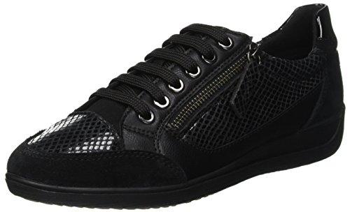 D A Basses black Geox Femme Baskets Myria C9999 Noir HqUBpd