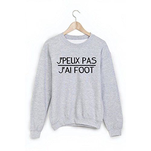 Sweat-Shirt citation Je peux pas j'ai foot ref 1879 - XL