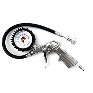 Prestacycle Prestaflator Tool With Gauge, Push/Pull Presta Head