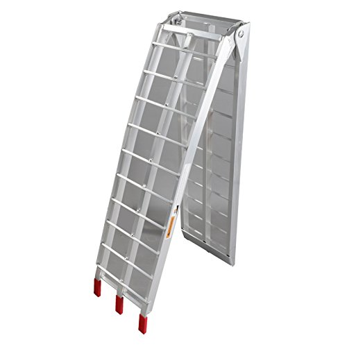 1pc 7.5 ft Folding Loading Ramp 750 lb ATV UTV Dirt Bike Truck Motorcycle Arcingle Arched Ramps Heavy Duty Aluminum Plate