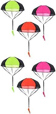 NUOBESTY Parachute Toys Mini Parachute Men Kids Parachute Toys Hand Throw Parachute