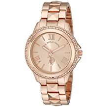 U.S. Polo Assn. Women's USC40078 Rose Gold-Tone Bracelet Watch