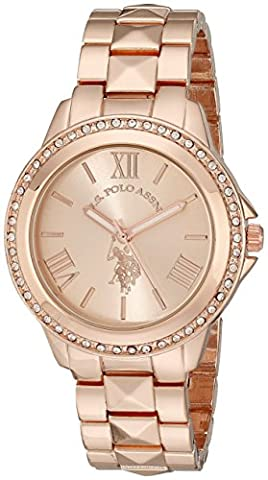 U.S. Polo Assn. Women's USC40078 Rose Gold-Tone Bracelet Watch (Gold Tone Metal Watch)