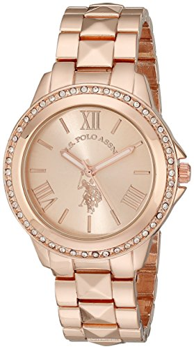 U.S. Polo Assn. Womens USC40078 Rose Gold-Tone Bracelet Watch