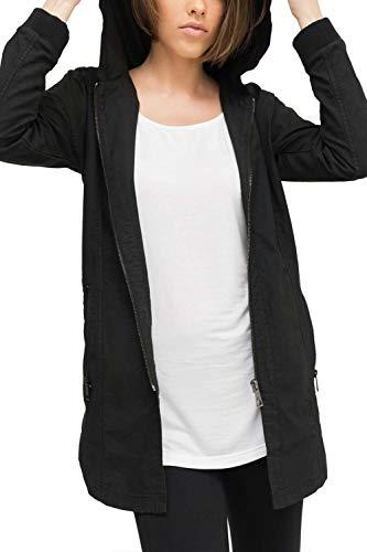 Classic Donna 2573517 Nero Uni Lunga Con Giacca Fit Slim Casuale 2999 Trueprodigy amp; Urban Vestiti Abbigliamento Leggera Moda Semplice Cappuccio Colore manica w5aRcqA