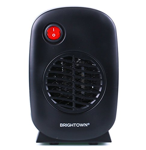 Brightown Personal Ceramic Portable-Mini Heater for Office Desktop Table Home Kitchen Dorm, 250-Watt ETL Listed for Safe Use, Black