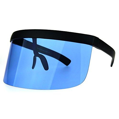 Extra Oversize Visor Style Shield Mask Pop Color Lens Funky Sunglasses - Sunglasses Womens Visor