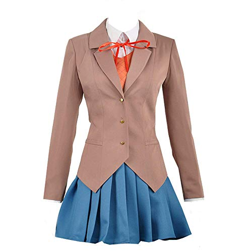 Expeke Women Sayori Yuri Natsuki Monika Uniform Cosplay Costume (Women XS, Style -