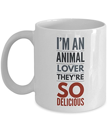 Hunting Mug - I'm An Animal Lover They're So Delicious Mug - Coffee Cups for Men - Funny Hunting Gifts