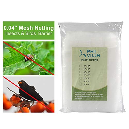 - PHI VILLA Tree Bag Netting - Insect/Bird Netting - Tree Cover with Zipper Closures 72