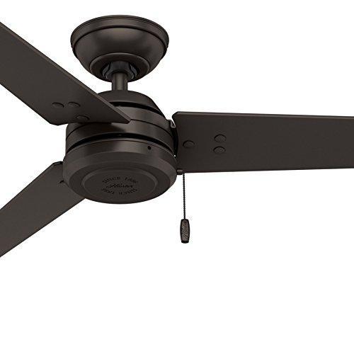 Hunter Fan 52 inch Outdoor Industrial Ceiling fan in Matte Black, 3-Blade (Renewed) (Premier Bronze) Ceiling Fan Matte Blade