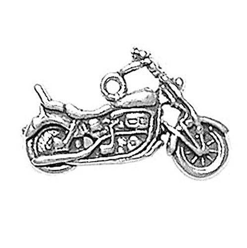 925 Sterling Silver Classic Chopper Bike Motorcycle Charm Pendant