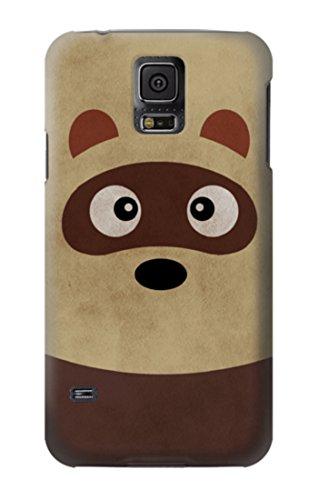 R2825 Cute Cartoon Raccoon Case Cover For Samsung Galaxy S5 (Case Galaxy S5 Raccoon Samsung)