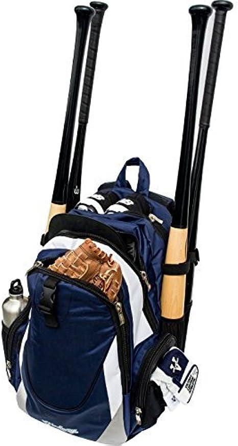 Amazon Com Victory Jackpack Bat Bag Navy White Clothing