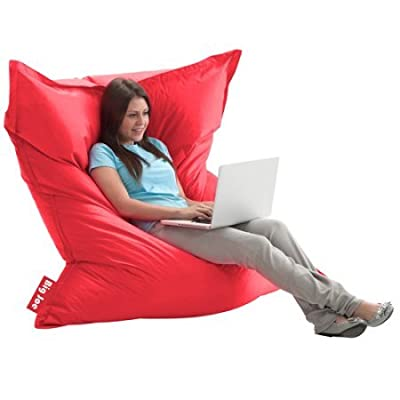 The Original Big Joe Bean Bag | Slips Easily Under a Bed or Behind a Sofa for Storage (Flaming Red)