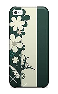 Iphone 5c Hard Back With Bumper Silicone Gel Tpu Case Cover Flower