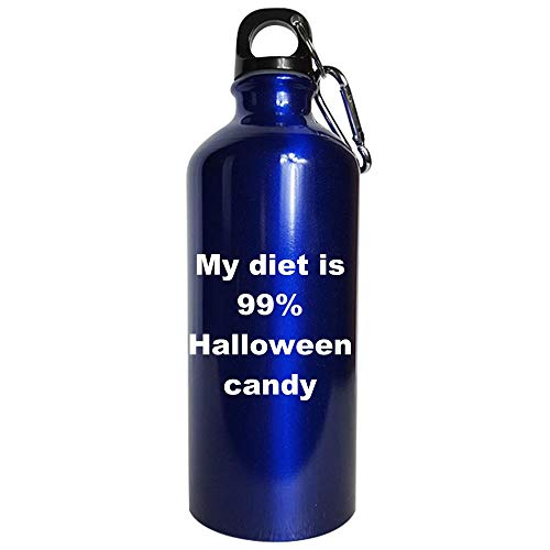 My diet is 99 percent Halloween candy - Water Bottle Metallic Blue -
