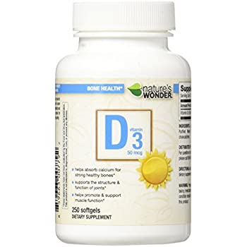 Magnus Nature's Wonder Vitamin D3 5000 IU (125mcg) Soft Gels, 150 Count