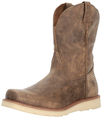 Ariat Men's Rambler Recon Square Toe Work Boot, Brown Bomber, 10.5 D US