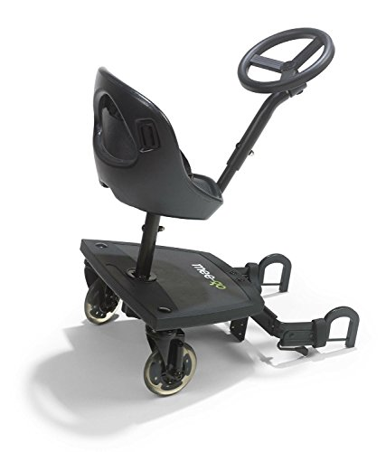 Mee Go Sit N Ride 2 Wheeled Rider Universal Buggy On Board With Seat Steering Wheel To Fit All Pushchairs Prams And Strollers