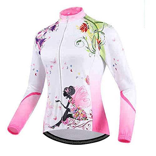 (Uriah Women's Cycling Jacket Long Sleeve Happy Fairy Size XXL(CN))