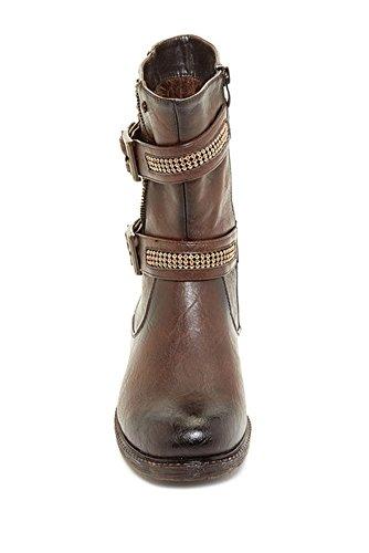 Extreme Door Eddie Marc Trinity Buckled Studded Boot, 10