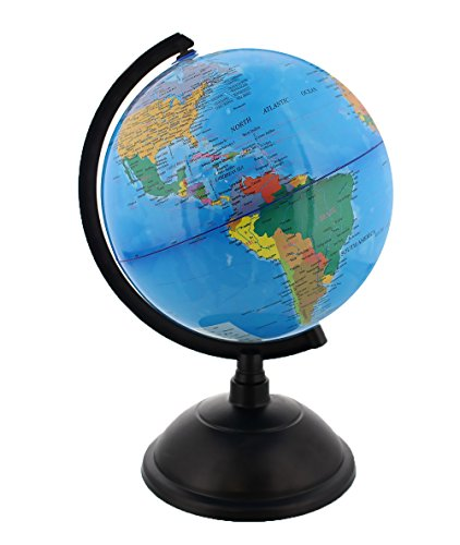 Spinning World Globe with Stand- Desktop Political Globe - 8 Inch (Ceiling Fan Globe Set compare prices)