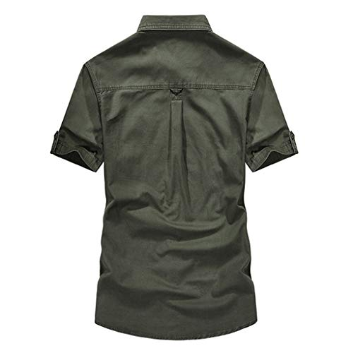 YKARITIANNA Men's Casual Embroidery Military Pure Color Pocket Short Sleeve T-Shirt Tops 2019 Summer Hot Sale -