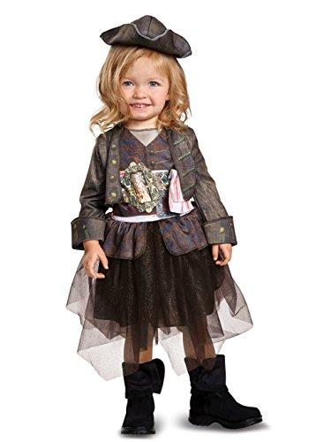 Dead Man's Chest Kids Costumes (Disguise POTC5 Captain Jack Sparrow Inspired Tutu Classic Toddler Costume, Multicolor, Medium (3T-4T))
