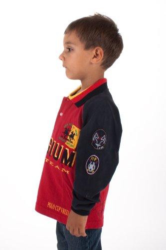 La Martina Jungen Poloshirt Schwarz Rot D38