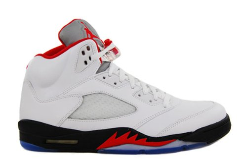 official photos bbb44 3a00d Galleon - Nike Kids Air Jordan 5 Retro 440888 100 White Fire Red Black  Basketball Sneaker (kids 6, White Fire Red Black)