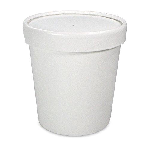 pack2go 250 Soup to Go-Container inklusive Deckel - 16oz/400ml, Suppen Behälter, Suppen Schale to Go, extrastarker Pappbecher mit Dampfdeckel für Suppenbars Suppen Behälter