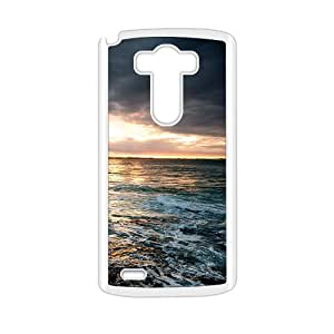 Personalized protective cell phone case for LG G3,silent sea wave design