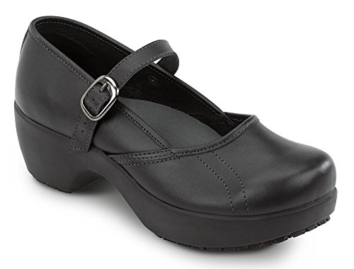 SR MAX Vienna Mary Jane Slip Resistant Clog (11, Black)