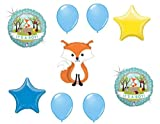 LoonBalloon Fox Woodland Animals It's a BOY Welcome Baby Shower (9) Party Mylar Balloons Set