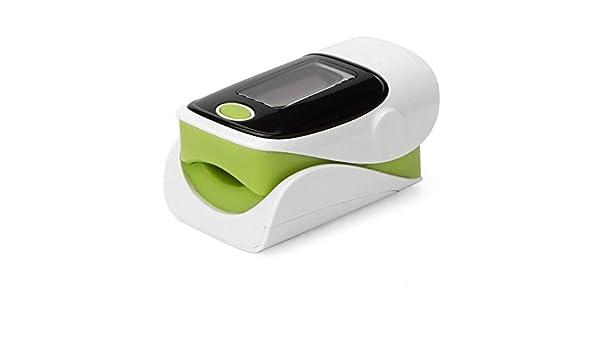 WYJD Tensiómetro de brazo ® Oxímetro de pulso de dedo con pantalla LED Pantalla digital de pulso de dedo y medidor de glucosa en sangre Lanyard ...