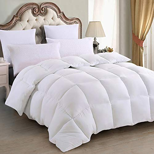 Emolli All Season King Comforter Summer Soft Quilted Duvet King,Luxury Fluffy Reversible Hotel Collection, Duvet Insert King, Machine Washable, Stand-Alone Comforter(King-90x100inch) ()