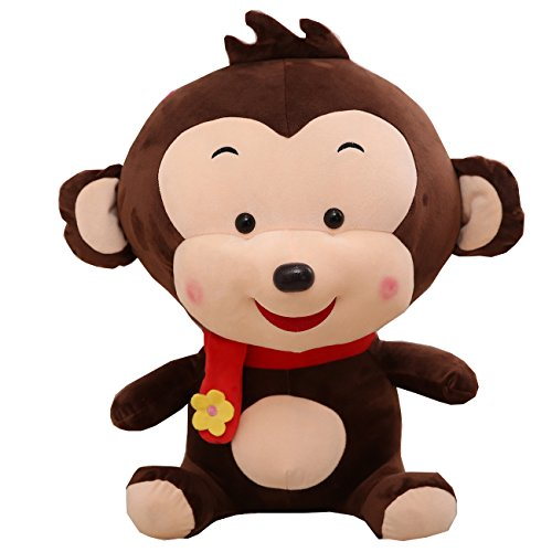[Pety Pet Monkey Stuffed Animal Plush Toy ,23.6 Inch Brown] (Benny And Smalls Costume)