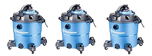 Price comparison product image Vacmaster 12 Gallon,  5 Peak HP,  Wet / Dry Vacuum with Detachable Blower,  VBV1210 (Pack of 3)